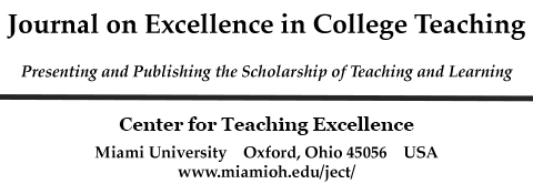 The Journal on Excellence in College Teaching